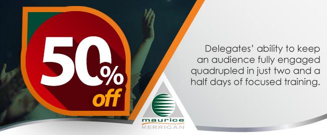 50 Percent Off Workshop Special_Effective Speaking and Presentation